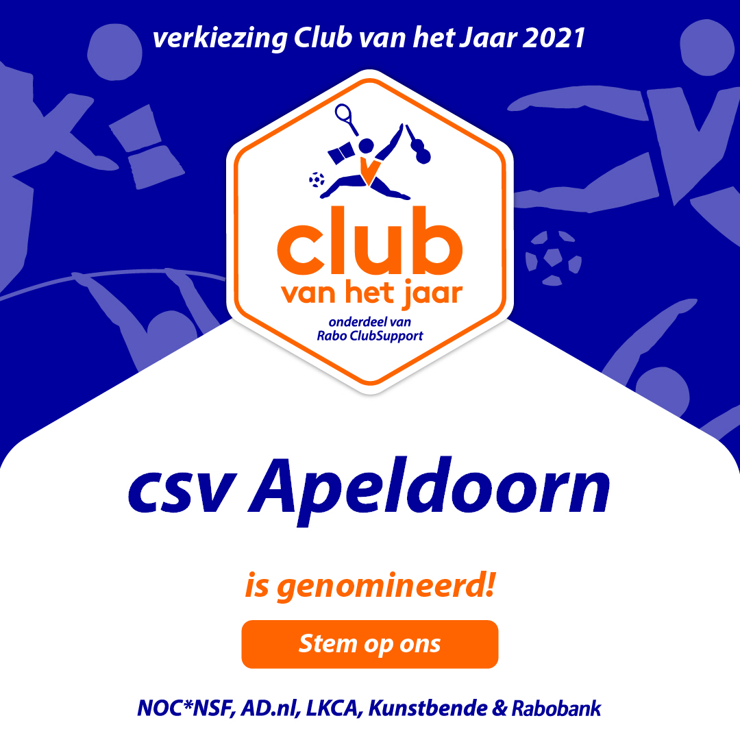Club van het jaar: Stem op csv Apeldoorn!